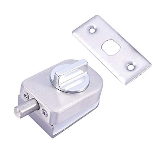 PETSOLA 10 12mm Glastürschloss Langlebiger Stahl Doppelbolzen Swing Push Sliding Lockset - 201 Einzelschloss