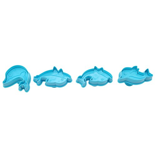 Blau Netter Delphin Form Plätzchenform Cutter ()