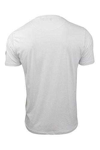 Brave Soul Herren T-Shirt blau blau Weiß