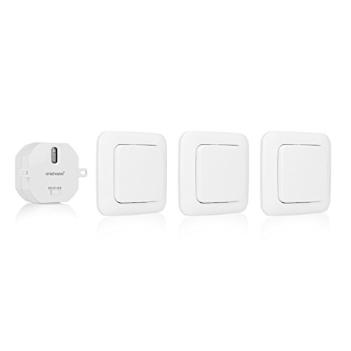 Smartwares SH5-SET-BS SmartHome 3er-Set Funk-Wandschalter und 1 Einbauschalter für Geräte bis 1000 Watt ideal für das Schlafzimmer