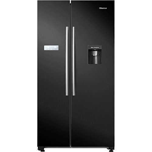 Hisense RS741N4WB11 Freestanding A+ Rated American Fridge Freezer -Black Best Price and Cheapest