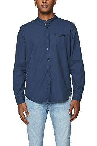 edc by ESPRIT Herren 019CC2F002 Freizeithemd, Blau (Navy 400), Medium (Herstellergröße: M)
