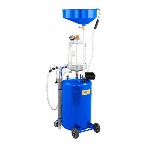 MSW Aspiratore d'Olio Esausto MSW-OBG80D (Capacità 75 L, Acciaio Verniciato, Pressione 9 bar, Ruote in PVC)
