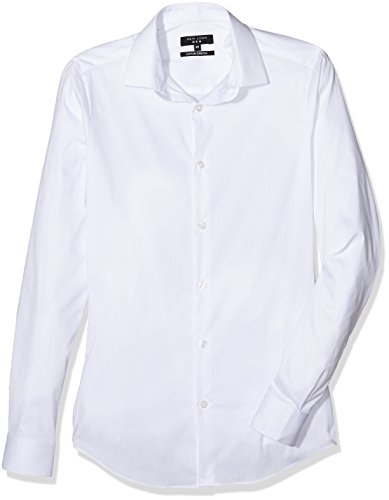 New Look Super Slim, Chemise Business Homme Blanc
