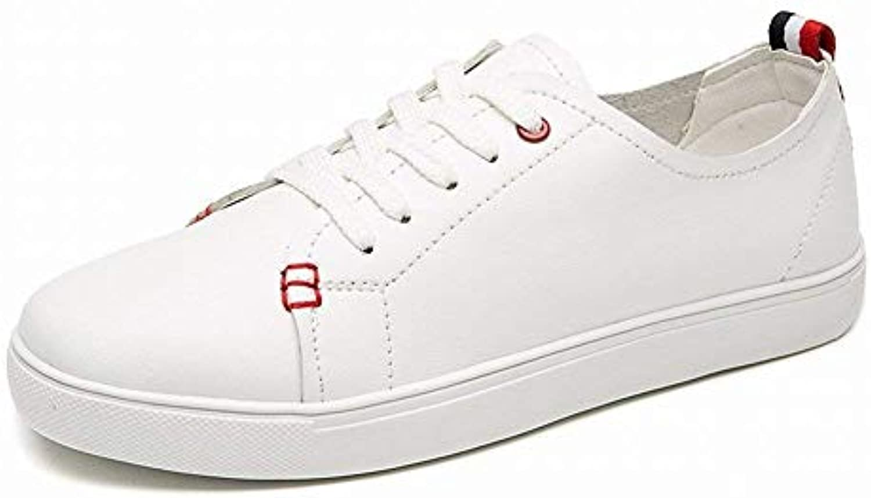 FuweiEncore Chaussures Confortables Blanches en Microfibre Confortables Chaussures et décontractées pour Les Chaussures de Sport (coloré... f3da0c