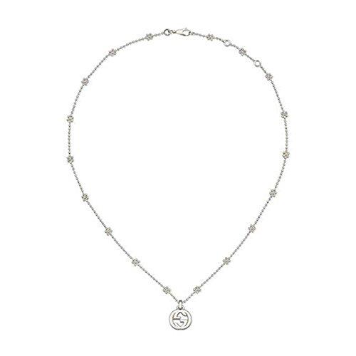 Gucci Damen-Kette mit Anhänger Interlocking 925 Silber rhodiniert 40 cm - YBB47922100100U