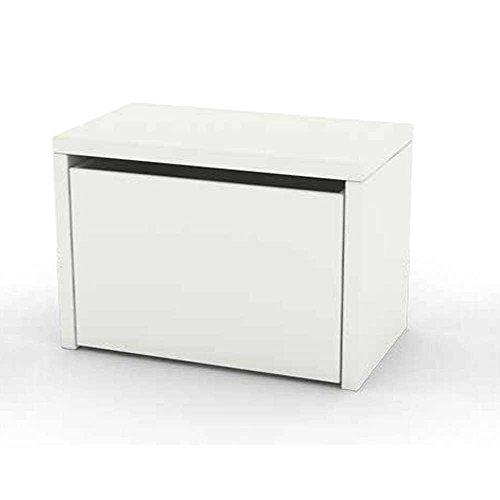 Schublade Bank (lounge-zone Spielzeugkiste Bank Aufbewahrungskiste PLAY mit Schublade (weiß) 11744)