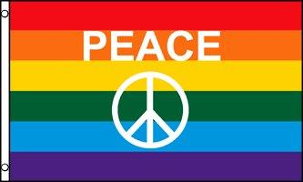 Az flag bandiera arcobaleno simbolo pace 90x60cm - bandiera gay - rainbow flag 60 x 90 cm
