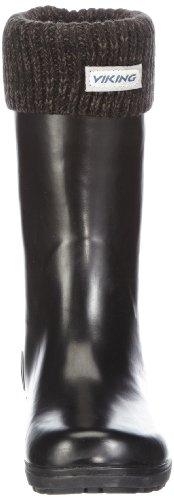 Viking  MIRA JR WARM, Bottes en caoutchouc avec doublure chaude fille Grau (Charcoal 77)