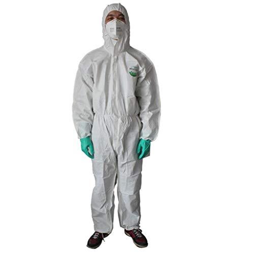 KLGW Allgemeine Schutzarbeit Sicherheit Wegwerfvlies Atmungsaktive Membran Schutzkleidung Siamesische Anti-Staub-Kleidung (Size : M) -