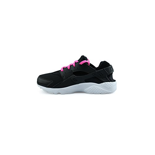 Nike Huarache Run (Ps), Chaussures de Running Entrainement Fille, Noir Noir (Noir / Blanc-Rose Explosion)