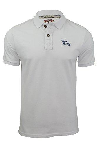 Herren Polo T-Shirt von Tokyo Laundry `Penn State`kurzärmlig Optic Weiß