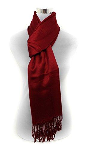 hot style zone hotselling uni de qualité supérieure Taille L shaw Pashmina Écharpe Motif cachemire Rouge - Rouge