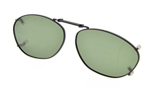 Eyekepper Metallrahmen Felge polarisierte Linse Clip auf Sonnenbrille 51x33MM Braunes Linse