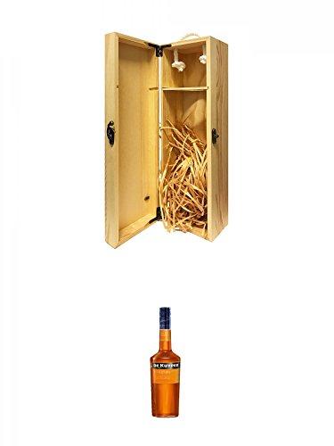 1a Whisky Holzbox für 1 Flasche mit Hakenverschluss + De Kuyper Apricot Brandy Likör 0,7 Liter