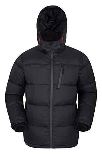 Mountain Warehouse Frost Extreme Herren Daunenjacke,wasserdichte,Gefütterte, Warme Winddichte, Winterjacke, Steppjacke, Herrenjacke Schwarz Large