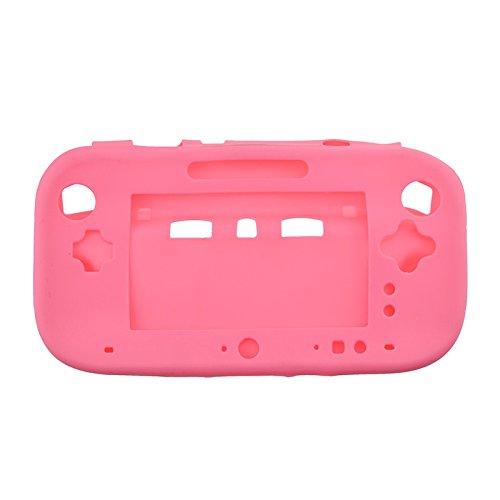 Ambertown® Weicher Displayschutzfolie aus Silikon Gummi Schutzhülle Haut für Nintendo WII U Game Controller Pink