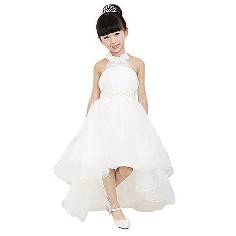 ZEARO Mädchen Ballkleid Sweet Prinzessin Lace Brautjungfer Kleider Kinder Abendkleid
