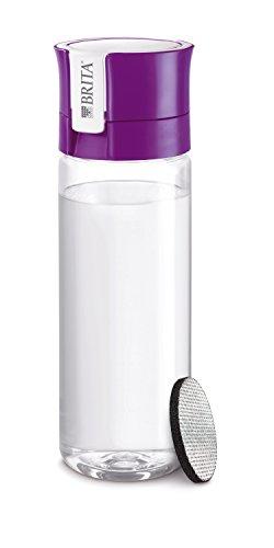 BRITA Fill&Go Bottle Filtr Purple Botella con - Filtro de Agua (Botella con Filtro de Agua, Púrpura, Transparente, De plástico, De plástico, 1 L, Alemania)