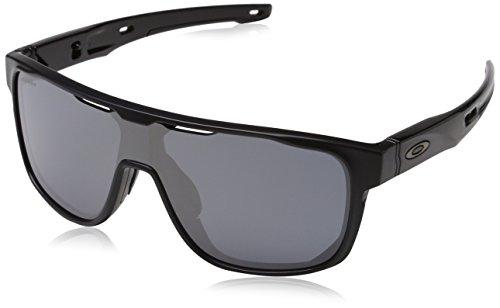 Oakley Herren Crossrange Shield 938702 Sonnenbrille, Schwarz (Matte Black/Prizmblack), 31