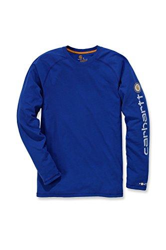Carhartt Force® Delmont Graphic Long Sleeve T-Shirt - Arbeitsshirt (XL, Blau)