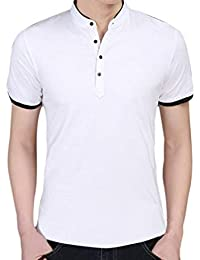 Camiseta para Hombres Ocio Hombres para Modernas Casual Self Cultivation Short T-Shirts Basic Business