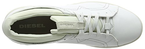 Diesel Studdzy Lace, Baskets Homme, Blanc Blanc (White)