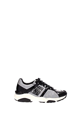 GINGI0632271 Salvatore Ferragamo Sneakers Femme Cuir Verni Noir Noir