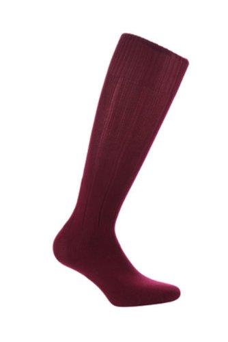 Samson Hosiery® FOOTBALL SOCKS PLAIN SOCKS RUGBY SOCKS HOCKEY Herren Damen Kinder Fußball Socken Gr. S, Mehrfarbig - Maroon