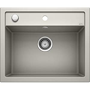 BLANCO 518846 – Fregadero (Aluminio, Gris, 1 senos, 395 x 350 mm, 19 cm, 465 mm, 510 mm)