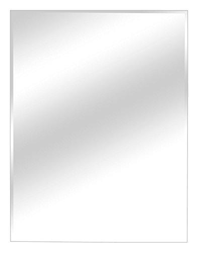 Facettenspiegel Wandspiegel Flurspiegel | B 45 x H 60 cm | Grau (Rechteckiger Spiegel Ohne Rahmen)
