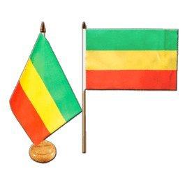 hflagge Äthiopien ohne Wappen, Rasta mit lackiertem Holzsockel ()