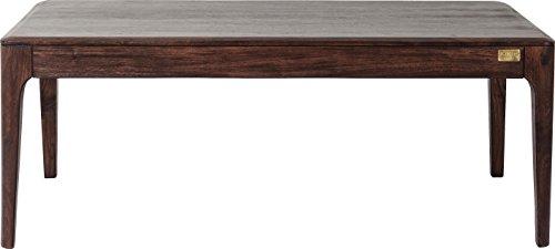 Kare Couchtisch Brooklyn Walnut, großer Wohnzimmertisch zur Ablage, niedriger Esstisch für Das Sofa, großer, brauner Beistelltisch aus Holz, (H/B/T) 45 x 115 x 60 cm -