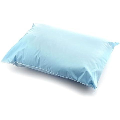 medichoice almohada cutí en vinilo, reutilizable, 7onzas, relleno de fibra de poliéster, azul, 13pulgadas x 17pulgadas (Caso de