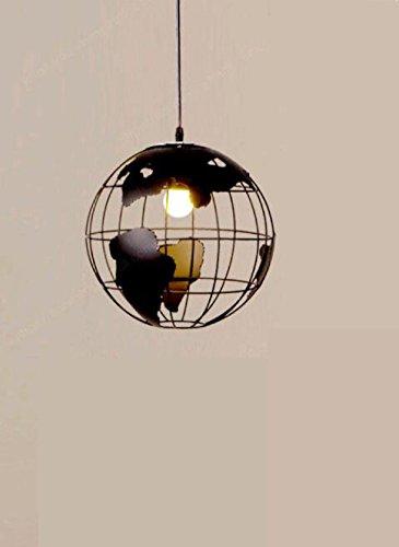 RXFRD Deckenleuchte Kronleuchter kreative Bügeleisen Moderne, einfache Zimmer Restaurant Studie Kunst Globus Persönlichkeit Metall 30 cm (Metall-globus, Kunst)