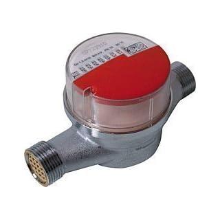 Andrae Einstrahl - Wasserzähler Warmwasser Qn 1,5, 110 mm, Anschlussgewinde: 3/4
