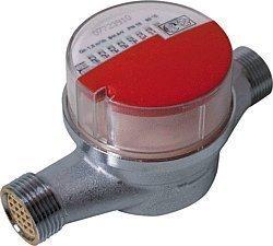 Wasserzähler (warm bis