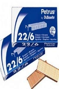 Petrus 55721 - Grapas cobreadas, 22/6, 25 unidades