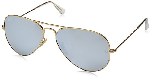 Ray Ban Herren Sonnenbrille RB3025, Gold, One size (58)