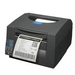 Citizen CL-S521, 8 Punkte/mm (203dpi), Peeler, ZPL, Datamax, Dual-IF, schwarz Dual Peeler