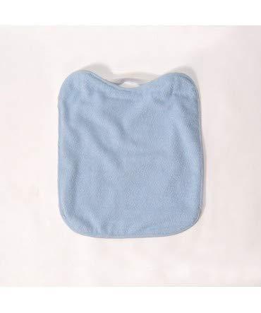 10XDIEZ Babero Rizo PLASTICO con Goma Azul