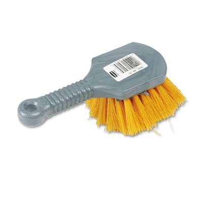 long-handle-scrub-8-plastic-handle-gray-handle-w-yellow-bristles-sold-as-1-each-by-rubbermaid-commer