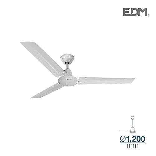 Deckenventilator Industrial Mini weiß ohne Licht 55W 120cm EDM 33982