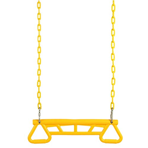 YONG SHENG Schaukelsitze mit einem Hochleistungsring/Trapez-Kombiringen Schaukelset Kinderspielzeugspielsets (Color : Yellow) (Halloween Gesunde Kleinkinder Für)