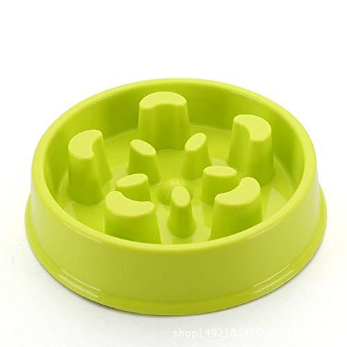 Anwasd7 Anti-Rutsch-Futternapf Pet Slow Food Bowl Umweltfreundlich Fallen Durable Dog Bowl Auslaufsicher Pet Bowl Grün -
