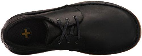Dr.Martens Mens Hazeldon Kingdom Leather Shoes Noir