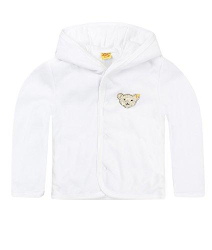 Steiff Unisex Baby (0-24 Monate) Jacke  1/1 Arm, Weiß (Bright White), 80 (Herstellergröße: 80) (24 Monate-jacke-jungen)