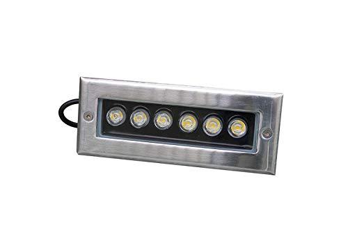 Wisdom Line Foco Segnapassi rectangular 6W luz cálida 3000K 600Lumen 6W, acero...
