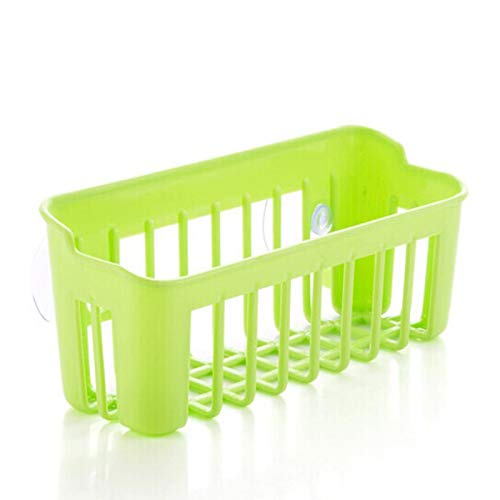 1 x Küchenspüle Regal Seifenschwamm Abtropfgestell Halter Hängekorb Aufbewahrung Saugnapf Küche Organizer 21 * 9 * 6cm grün