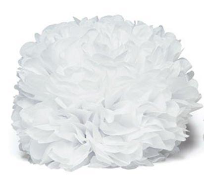 Woodside Gardens Weddingstar 9306–08Celebration Pfingstrosen Seidenpapier Blumen–Groß–Weiß
